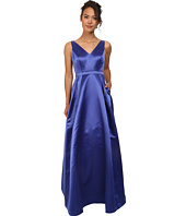 Adrianna Papell - Halter Satin Ball Gown with Open Back