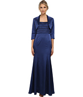 Adrianna Papell - Bead Shantung Gown with Jacket