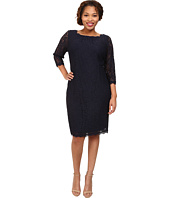 Adrianna Papell - Plus Size 3/4 Sleeve Lace Dress