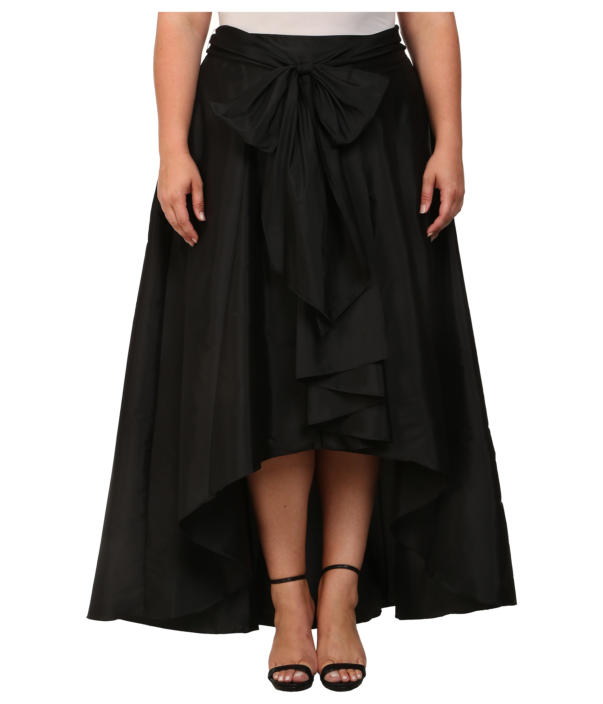 papell plus size high low skirt zappos