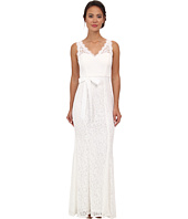 Adrianna Papell - Sleeveless V-Neck Lace Gown
