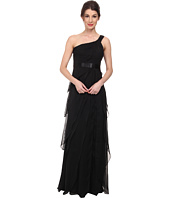 Adrianna Papell - Draped One Shoulder Chiffon Flutter