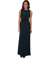 JILL JILL STUART - Belted Back Drape Illusion Gown