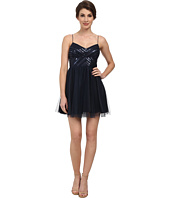 Aidan Mattox - Spaghetti Strap Party Dress w/ Beaded Bodice
