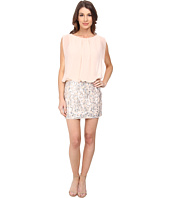 Aidan Mattox - Contrast Beaded Skirt Blousson Dress