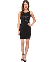 Aidan Mattox - Sleeveless Sheath w/ Bead Detail and Illusion Waist