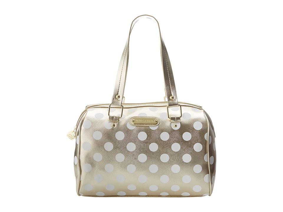 Betsey Johnson - Hocus Polkas Satchel (Gold) Satchel Handbags