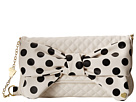 Betsey Johnson Dots Enough Shoulder (White)