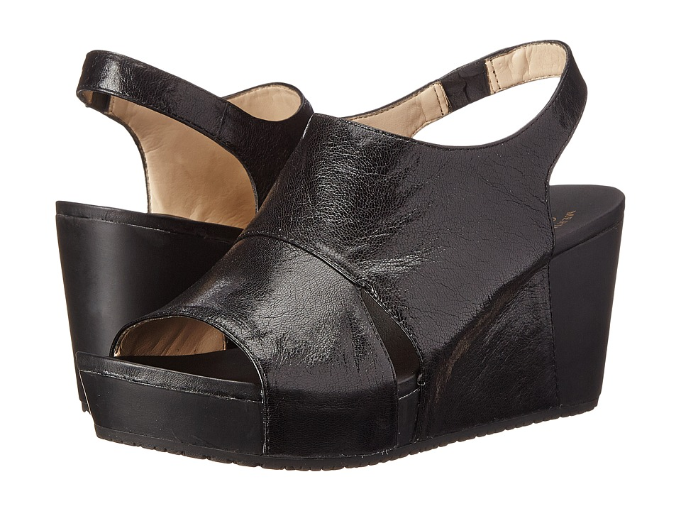 Dr. Scholls Weslyn Original Collection Black Leather Womens Wedge Shoes