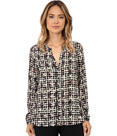 NYDJ - Overlayed Plaid Blouse