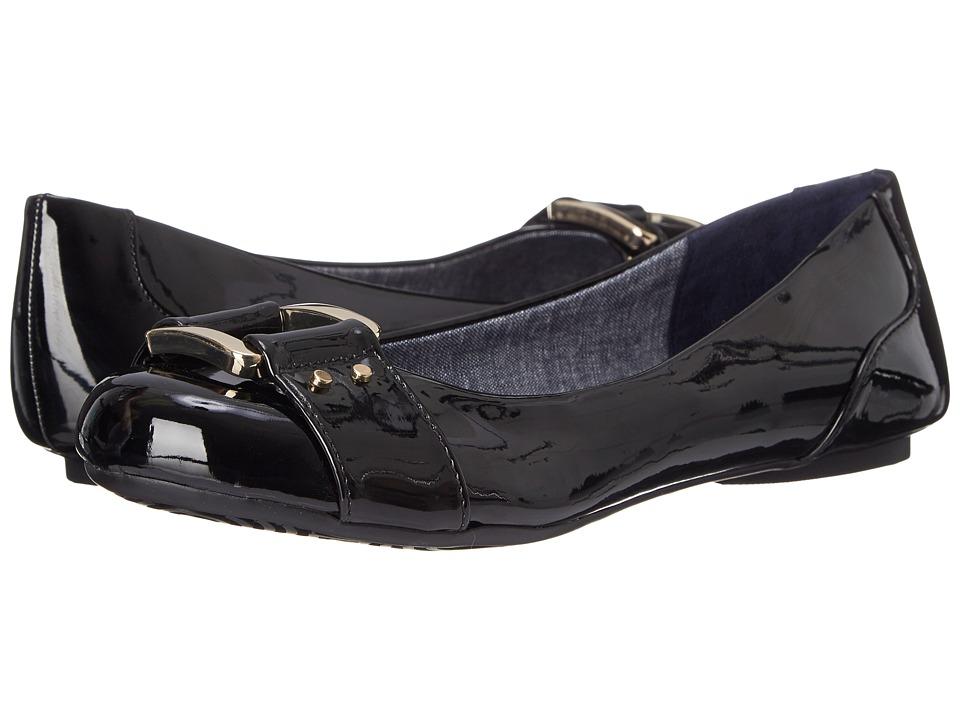 Dr. Scholls Frankie Black Patent Womens Flat Shoes
