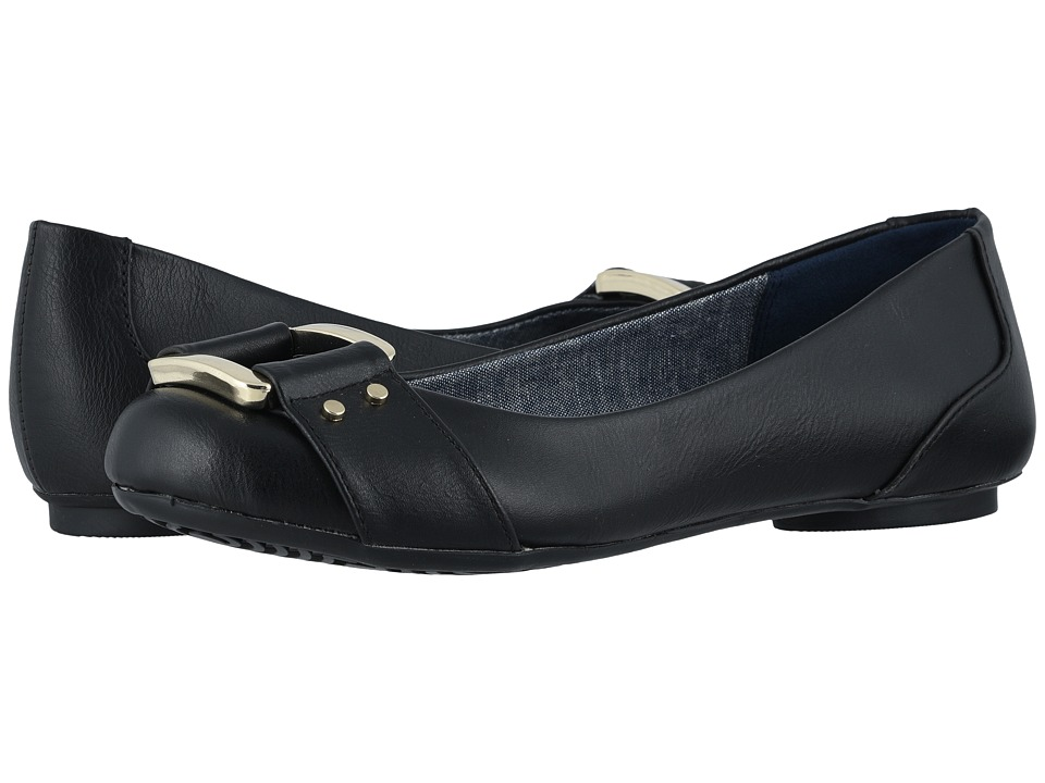 Dr. Scholls Frankie Black Savory Womens Flat Shoes
