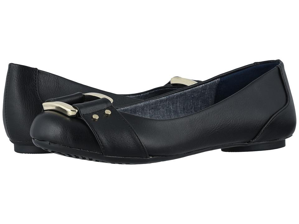 Dr. Scholls Frankie (Black Savory) Women's Flat Shoes