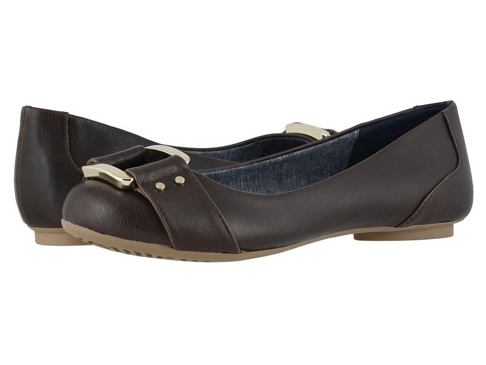 Dr. Scholls Frankie Dark Brown Savory Womens Flat Shoes