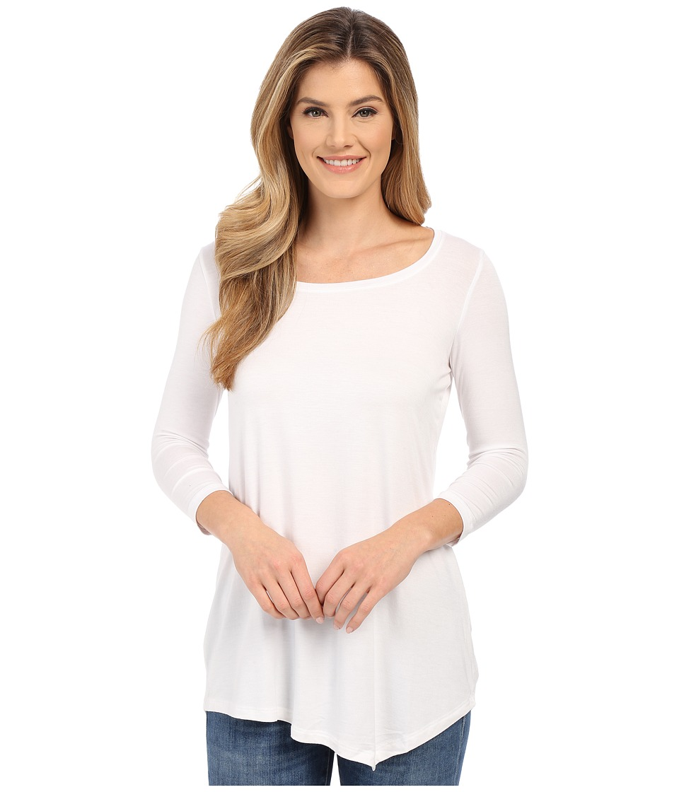 NYDJ - City/Sport Leah Basic 3/4 Sleeve Tee (Optic White) Women