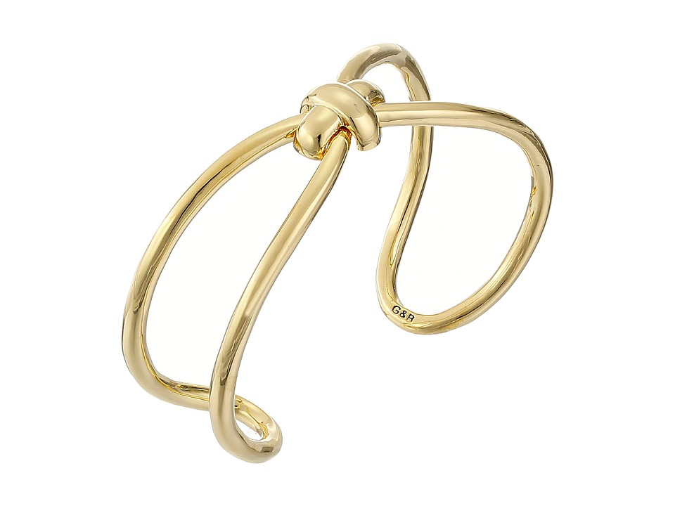 Giles amp Brother Skinny X Knot Cuff Bracelet Gold Finished Brass Bracelet