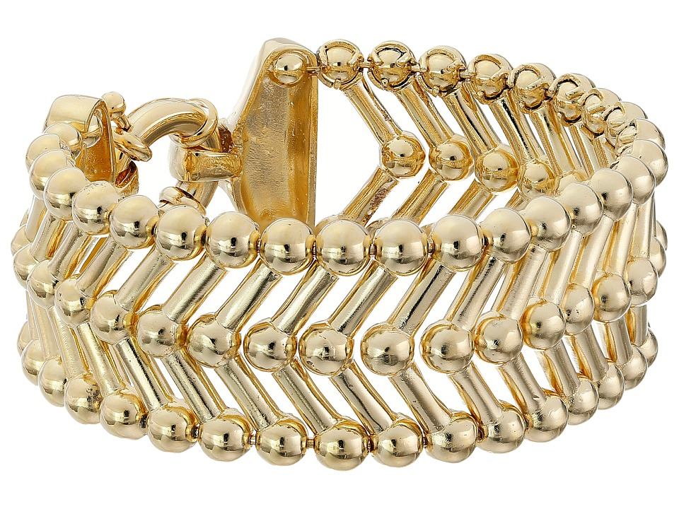 Giles amp Brother Thin Apache Bracelet Gold Finished Brass Bracelet