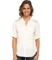 Dylan by True Grit - Malibu Ranch 3/4 Sleeve Blouse with Knit Panel