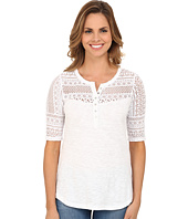 Dylan by True Grit - Navajo Lace and Soft Slub Baja Blouse