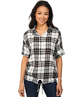 Dylan by True Grit - Outpost Plaid Gauzy Cotton Blouse