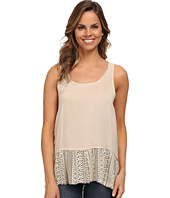Dylan by True Grit - Flirty Tank Top with Lace Hem