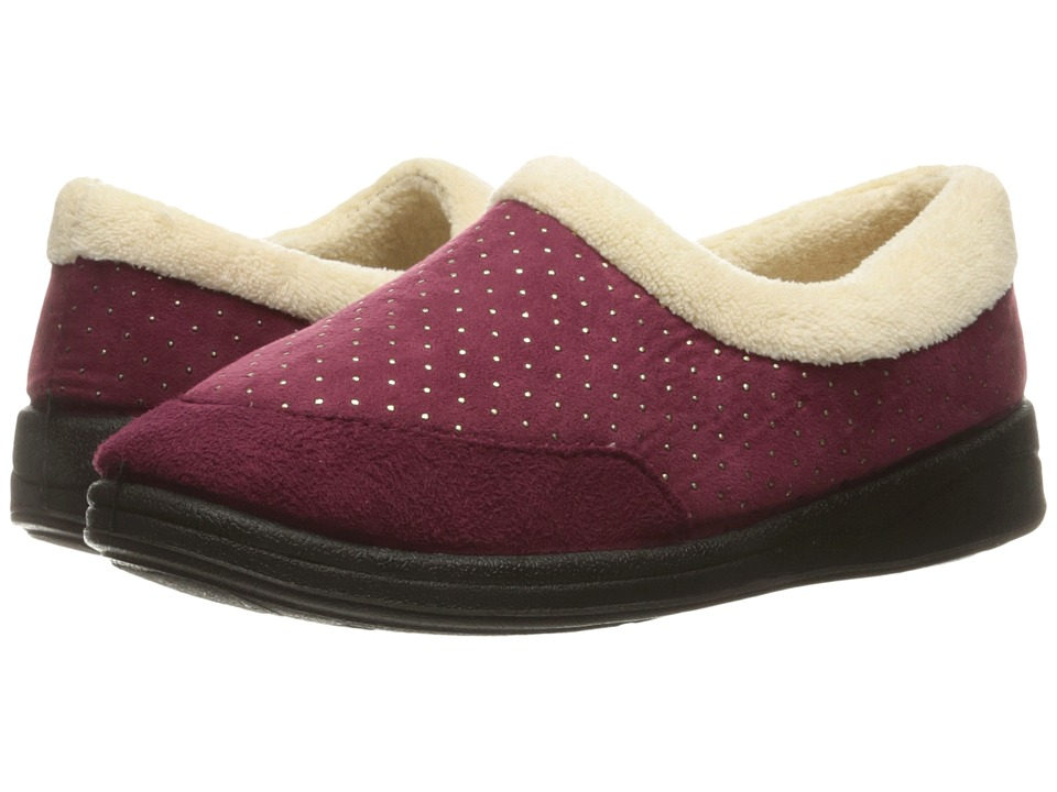 Foamtreads Keira Burgundy Womens Slippers