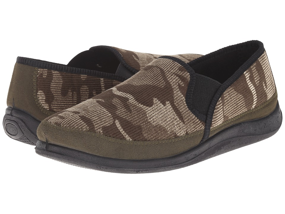 Foamtreads Hunter Green/Camo Mens Slippers