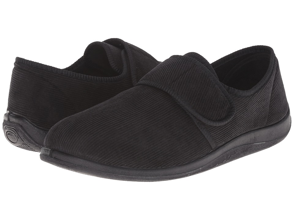 Foamtreads Barry Black Mens Slippers