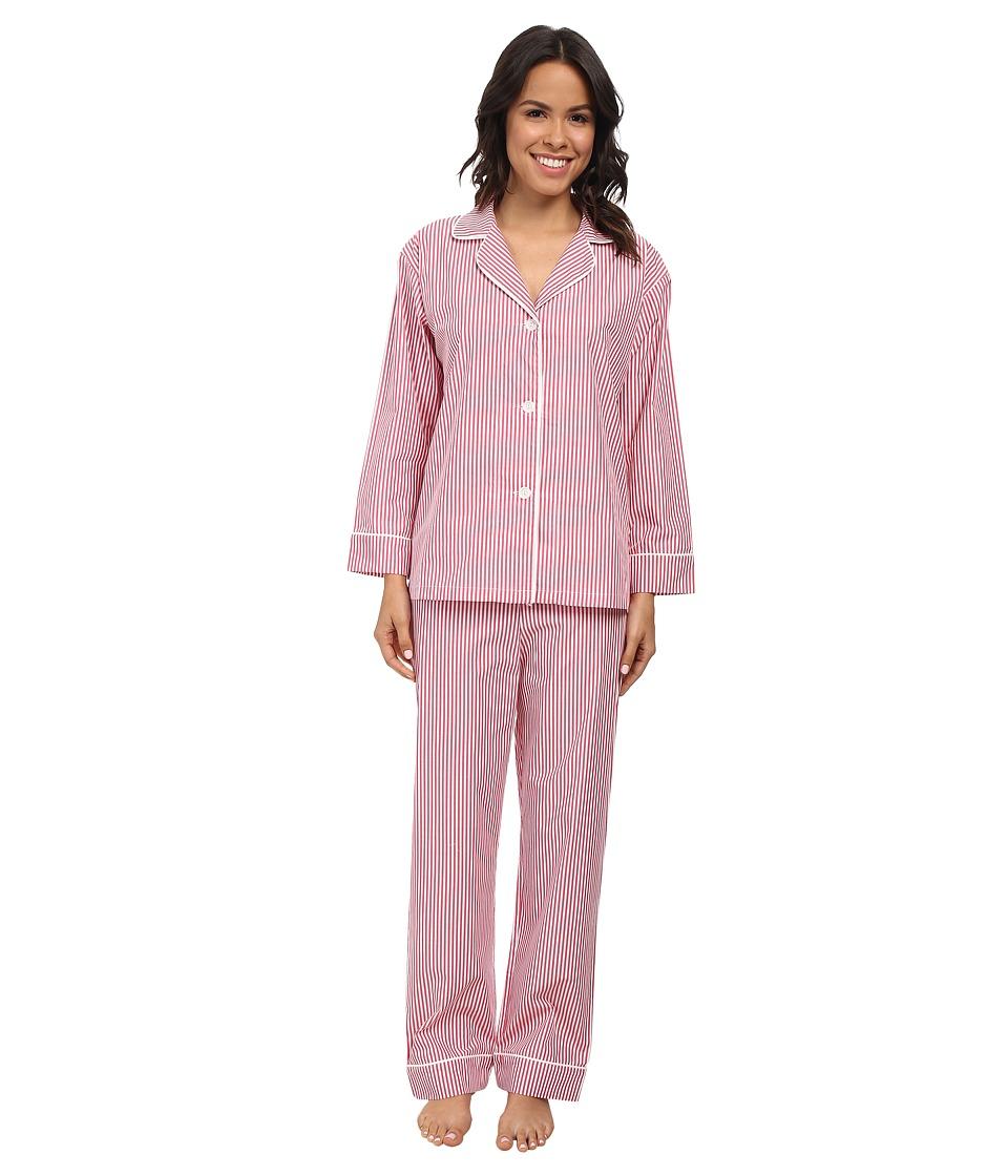 BedHead Classic Pinstripe PJ Set Pink Stripe Womens Pajama Sets