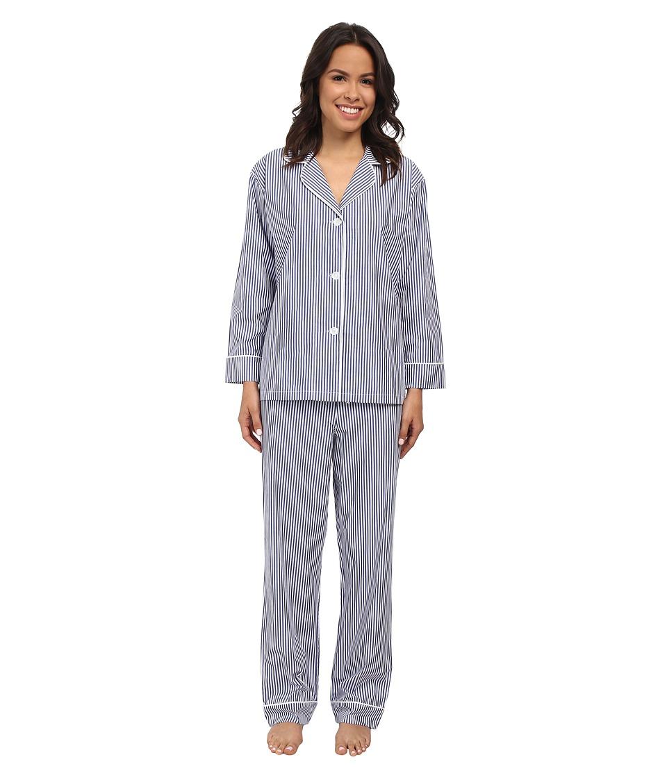 BedHead Classic Pinstripe PJ Set Blue Stripe Womens Pajama Sets