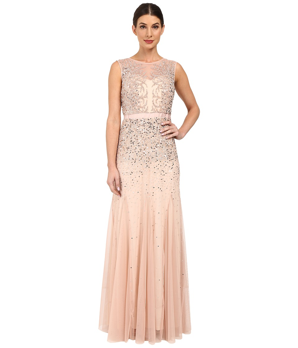 Adrianna Papell - Beaded Illusion Gown