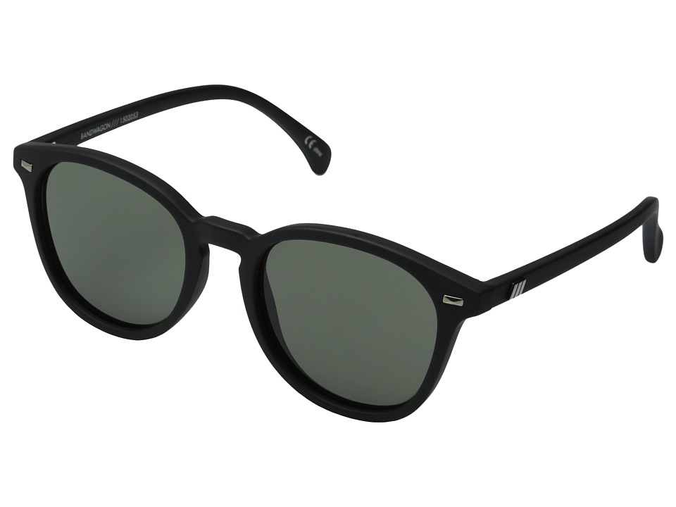 Le Specs Bandwagon Black Rubber Fashion Sunglasses