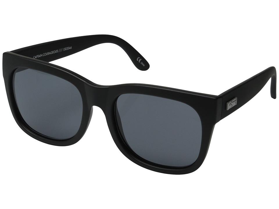 Le Specs Captain Courageous Black Rubber Fashion Sunglasses