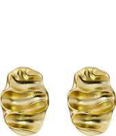 Kenneth Jay Lane - Wavy Oval Pierced Earrings