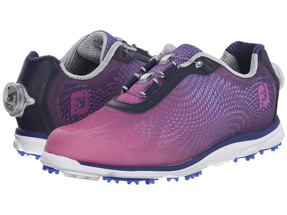 FootJoy BOA emPOWER Spikeless Navy/Plum Womens Golf Shoes