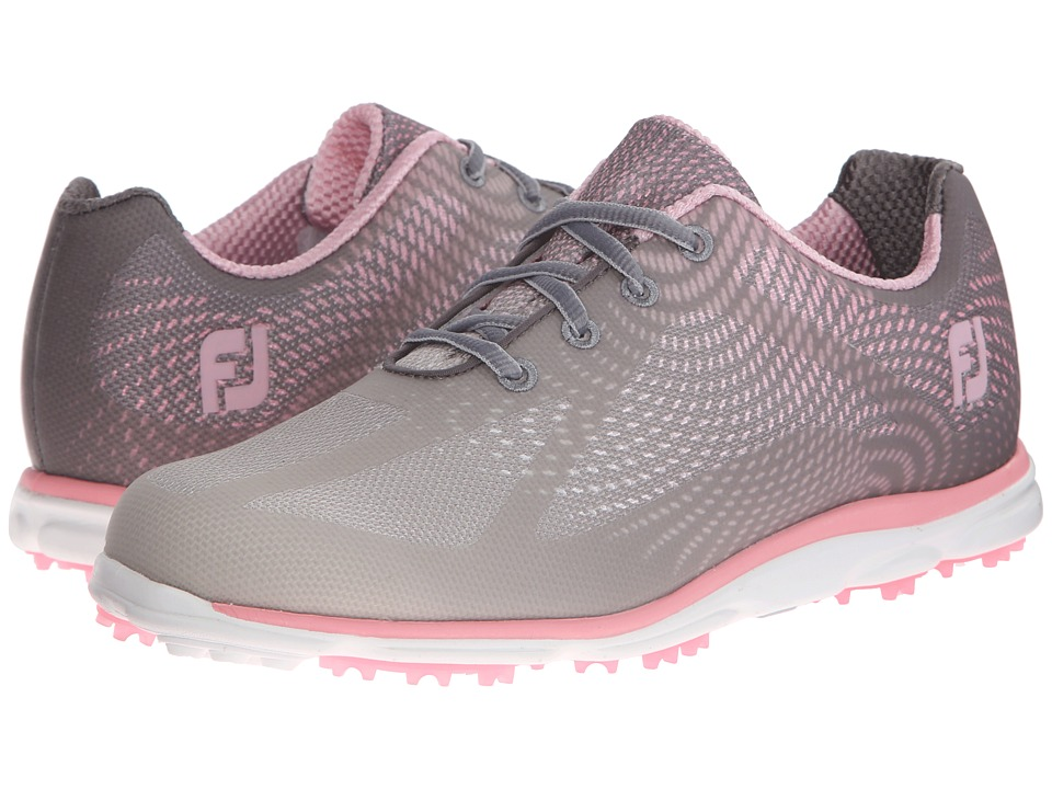 FootJoy - Empower Spikeless (Mesh/Grey/Silver/Pink) Womens Golf Shoes