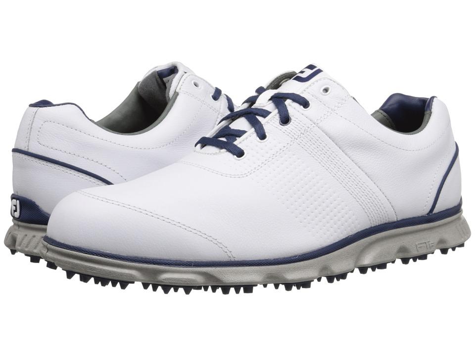FootJoy - DryJoys Casual (White/Navy) Mens Golf Shoes