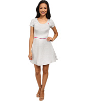 U.S. POLO ASSN. - Belted Striped Jersey Dress