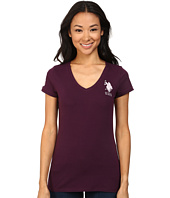 U.S. POLO ASSN. - V-Neck Short Sleeve T-Shirt with Big Pony and #3