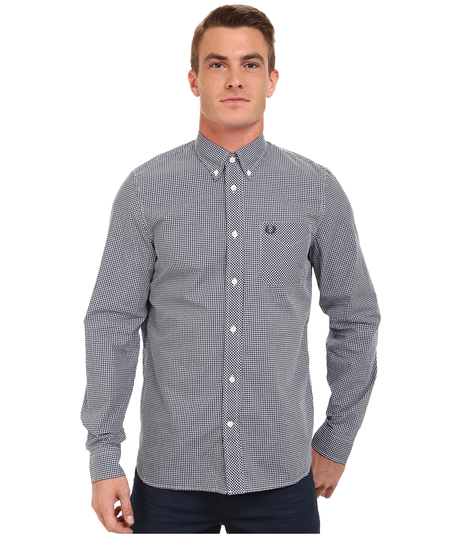 Fred perry long sleeve classic gingham shirt at for Fred perry mens shirts sale