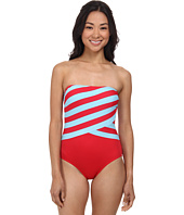 DKNY - Spliced Bandeau Maillot w/ Removable Soft Cups