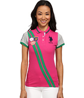 U.S. POLO ASSN. - Double Diagonal Stripe Pique Polo