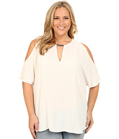 Mynt 1792 - Plus Size Cold Shoulder Blouse