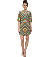Maggy London - African Bead Crepe Jersey Wedge