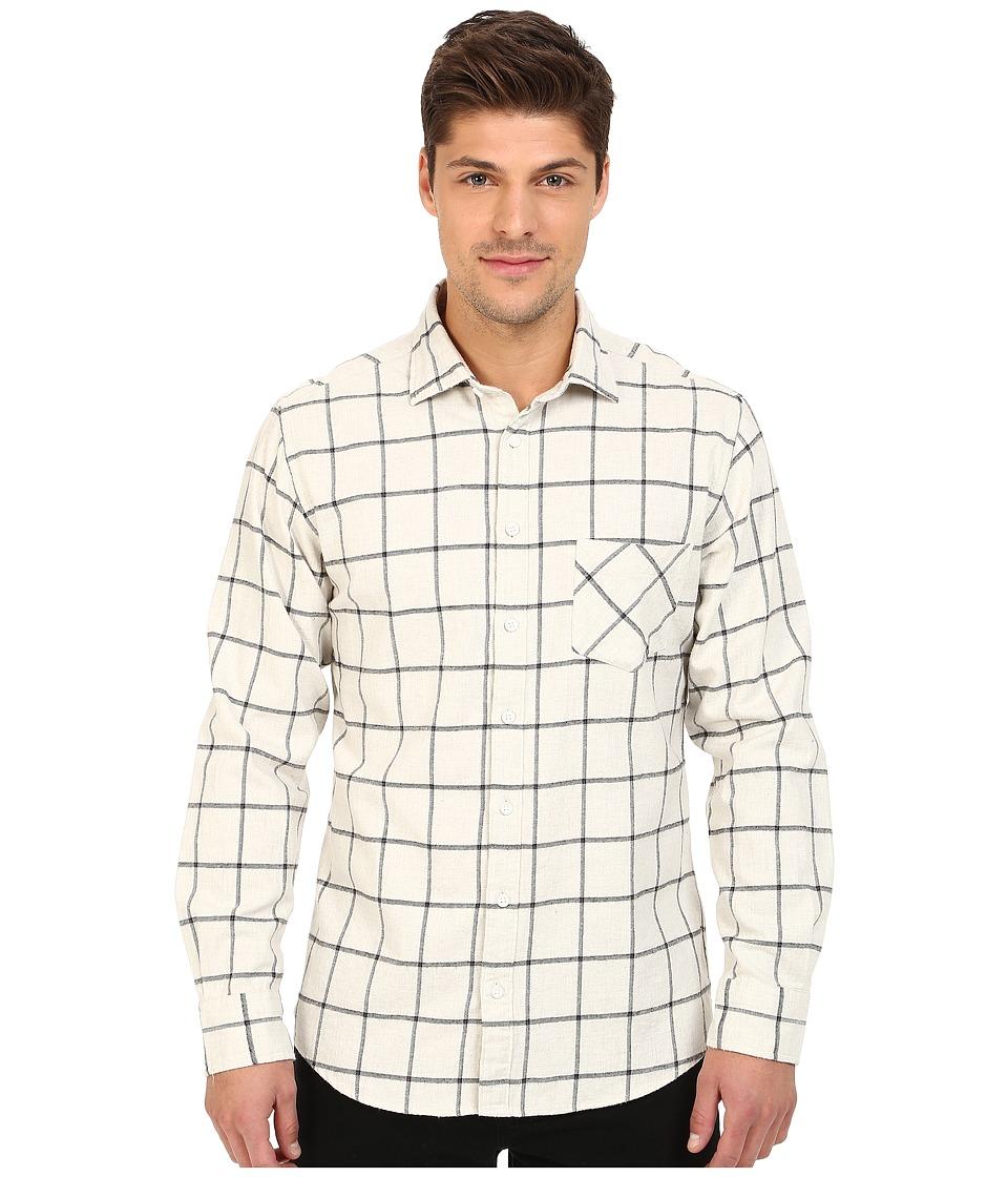 Rodd amp Gunn Melba Japanese Brushed Cotton Sport Shirt Ivory Mens Long Sleeve Button Up