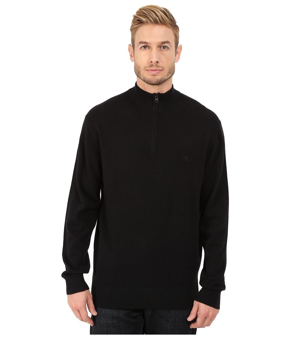 Rodd amp Gunn Masterton Lambswool 1/4 Zip Knit Onyx Mens Long Sleeve Pullover