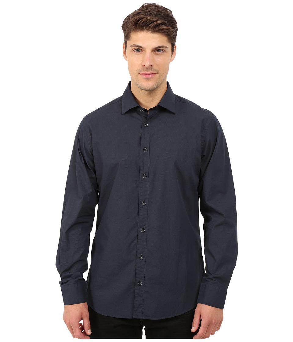 Rodd amp Gunn Foundry Sport Shirt Midnight Mens Long Sleeve Button Up