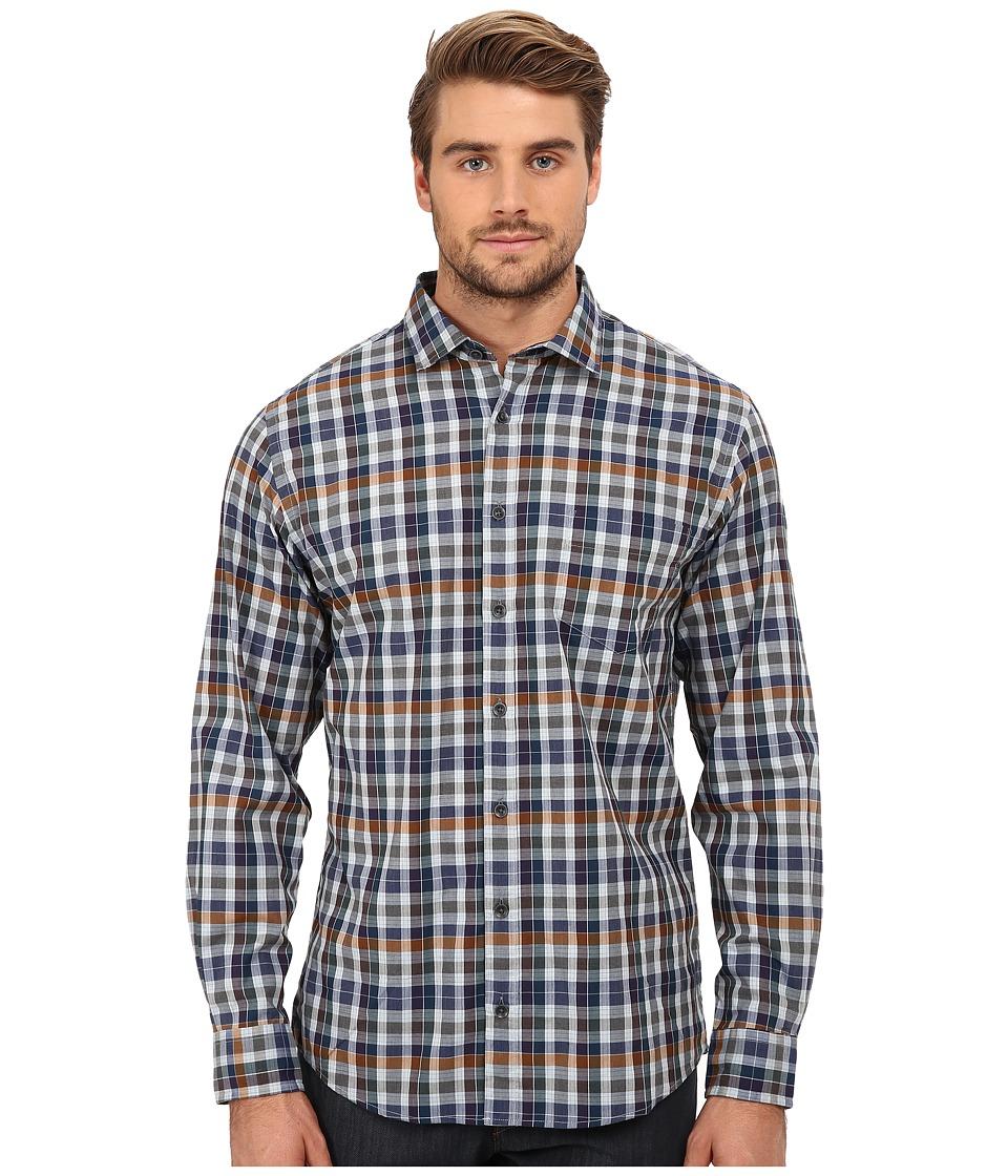 Rodd amp Gunn Albermarle Sports Shirt Slate Mens Long Sleeve Button Up