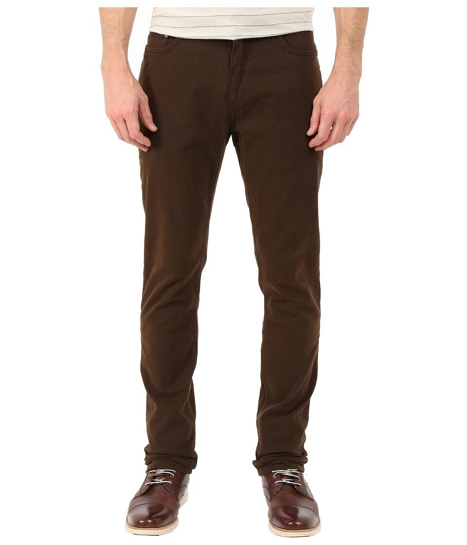 Rodd amp Gunn Barters Five Pocket Jeans Dark Tobacco Mens Casual Pants