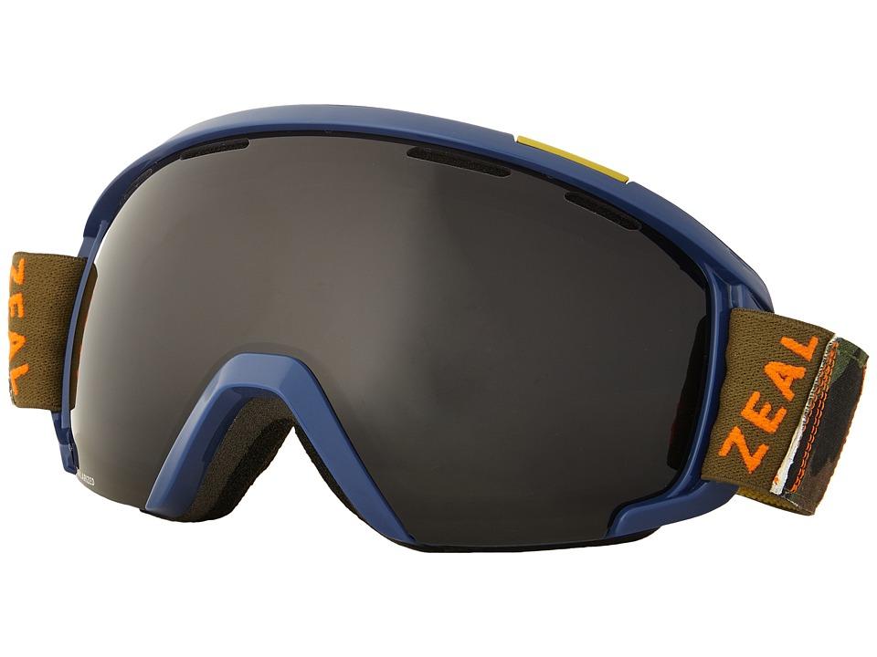 Zeal Optics Slate (Meridian Blue/Dark Grey Polarized Lens) Goggles